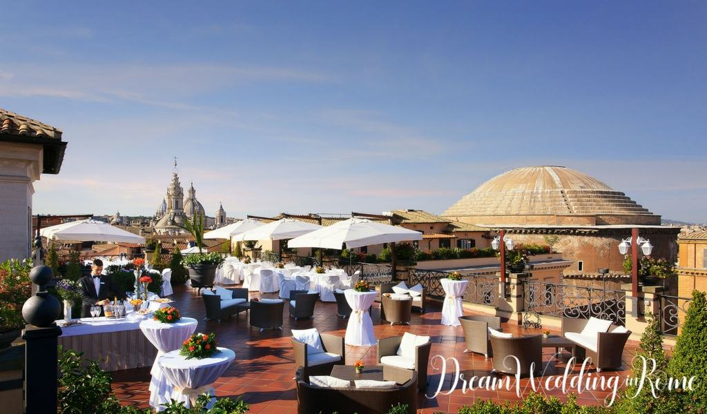 Destination Wedding In Rome The Best Roof Garden Dream